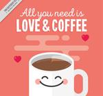可爱表情咖啡海报