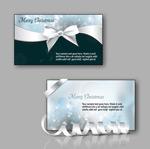 圣诞蝴蝶结卡片