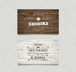 木纹婚礼邀请卡