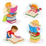 看书的孩子们