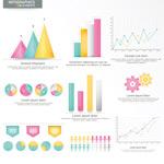 彩色数据信息图表