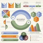 多彩数据信息图表