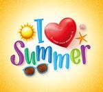 夏季旅行卡通字母