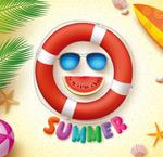 夏季海滩旅游主题