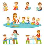 幼儿园老师和孩子