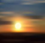 天边日落风景