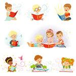 读书学习的孩子