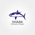 鲨鱼标志矢量