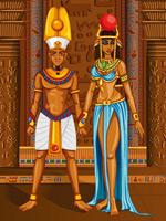 宫殿中的埃及男女