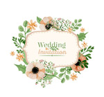 花朵婚礼请柬