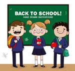 可爱返校学生