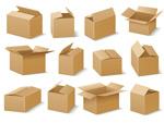 纸箱矢量素材