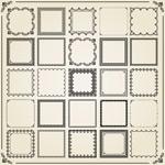 正方形花纹边框
