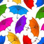 雨伞无缝背景