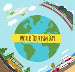 世界旅游日贺卡