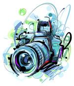 水彩单方相机