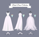 婚纱和高跟鞋