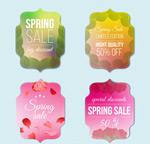 彩色春季促销标签