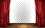 红色窗帘舞台背景