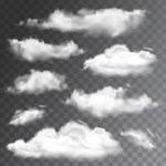 白色云朵矢量