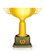 金色创意奖杯