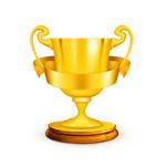 金色奖杯矢量