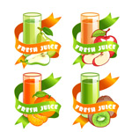 卡通水果果汁饮品