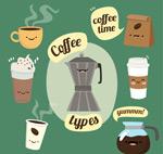 可爱表情咖啡