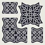 黑色编织花纹装饰