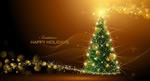 魔法圣诞树矢量
