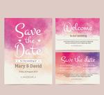水彩婚礼卡片