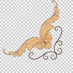 欧式复古金色花纹
