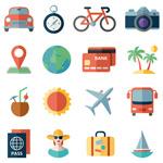 旅行旅游工具图标