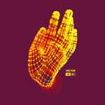 金色粒子连线手掌