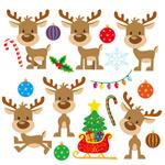 卡通圣诞节麋鹿