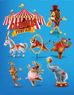 马戏团动物卡通