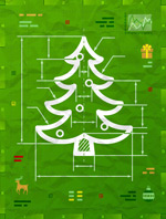 圣诞树信息图