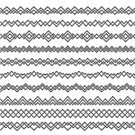 弯曲线性花纹边框