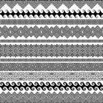 复古线性花纹边框