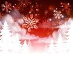 雪花和雪地矢量