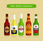 彩色瓶装啤酒