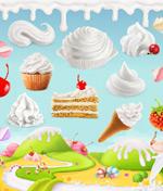 糕甜品卡通背景