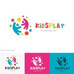 抽象儿童logo
