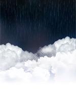 云层上的瓢泼大雨