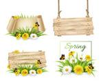 花卉蝴蝶装饰木牌