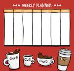 咖啡装饰周计划表
