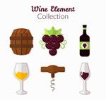 葡萄酒元素图标