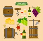 葡萄酒元素矢量