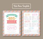 彩绘条纹儿童菜单