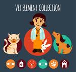 女兽医和宠物